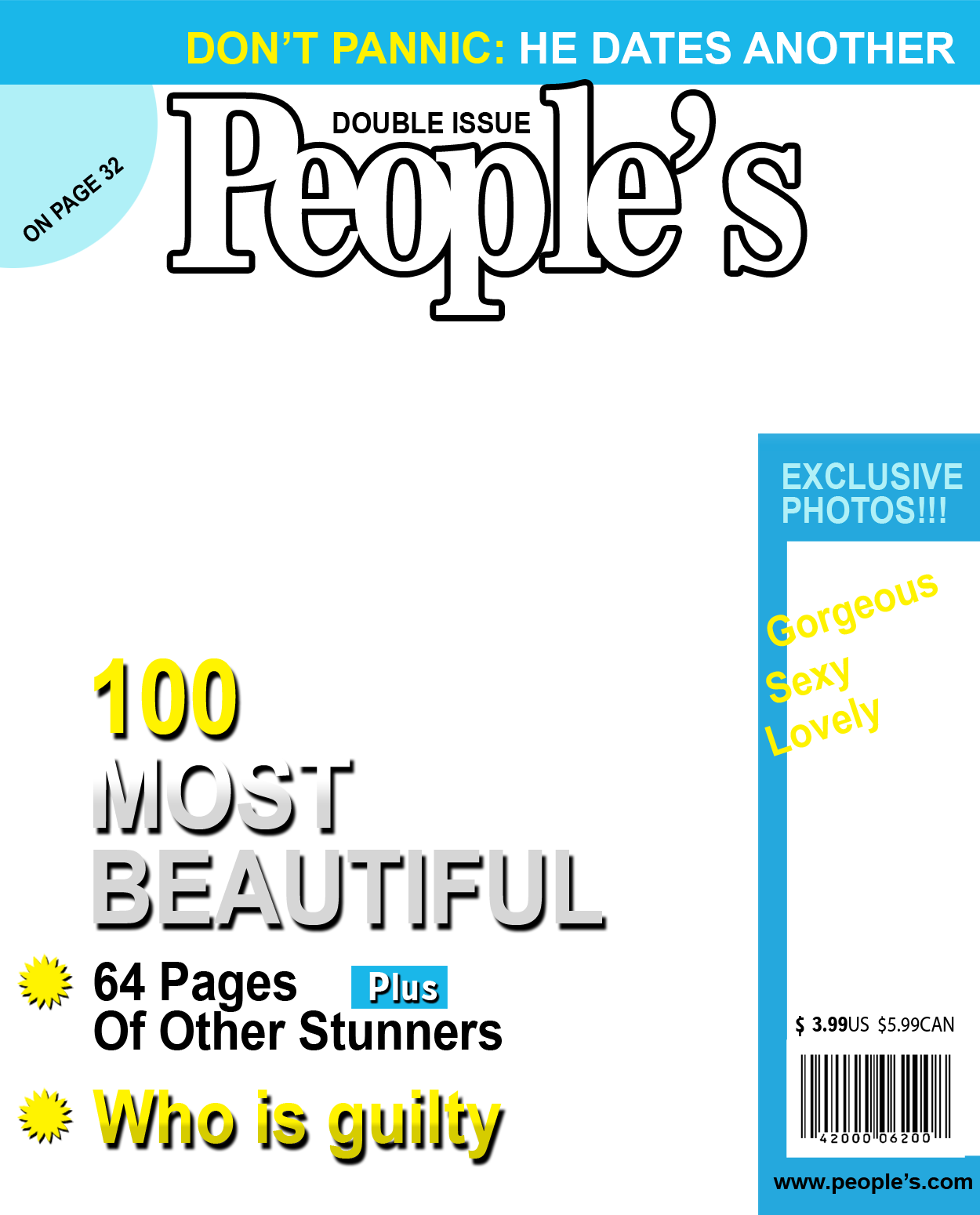 ... Magazine Cover Template Friends And Family And Custompeople Magazine